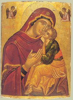 The Virgin of Tenderness. Religious Images, Religious Icons, Religious Art, Byzantine Icons, Byzantine Art, Saint Catherine's Monastery, Roman Church, Images Of Mary, Russian Icons