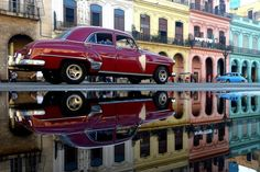 Reflection / Cuba Cars by Can Emre