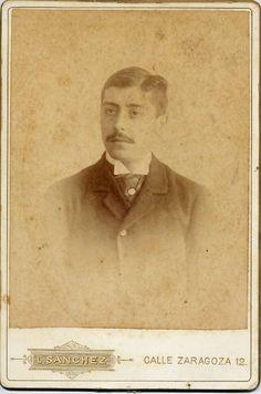 Sanchez, J.: retrato de caballero, Carte Cabinet 1890s.  hesperus´ Collection.