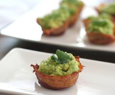 Mini Bacon Guacamole Cups from All Day I Dream About Food.  Low-carb, Gluten-free.  Forget all other foods - I am living on these for the rest of my life!