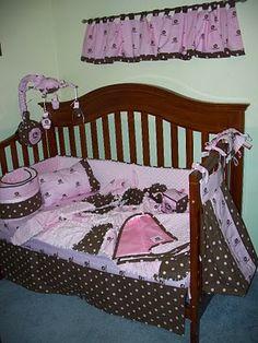 John Deere baby girl crib set
