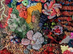 close up of freeform knit & crochet wallhanging by freeform by prudence, via Flickr