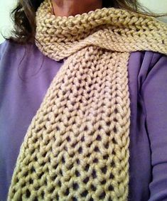 Ravelry: One Row Lace Scarf 2 pattern by Magda Stryk Therrien