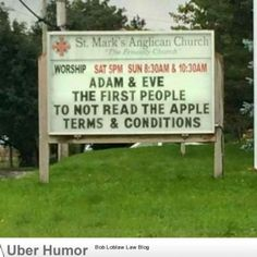 I Laughed At This Church Sign.