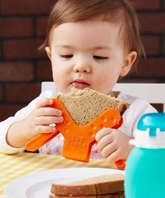 Are motor skills developing? Pick up a Sandwiches 'N More Toddler Utensil so your child can hold a sandwich. Toddler Tips and Tricks – Hacks for New and Old Moms on Frugal Coupon Living.