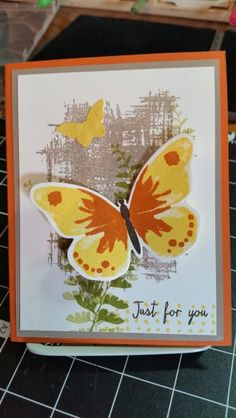 Made this today with my new Watercolor Wings from Stampin'UP!