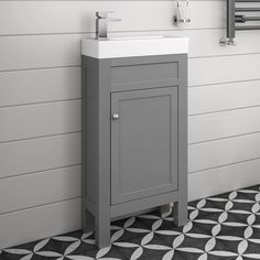 Cloakroom Basin Vanity Units image is loading traditional-bathroom-furniture-grey-vanity-unit-sink- cloakroom- UAGAROZ Cloakroom Basin Vanity Units, Grey Vanity Unit, Sink Vanity Unit, Small Vanity Unit, Cloakroom Toilet Downstairs Loo, Small Bathroom Sinks, Small Bathroom Storage, Bathrooms, Cloakroom Ideas Small