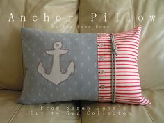 Tea Rose Home: Out to Sea DIY Blog Tour/ Tutorial~ Anchor Pillow