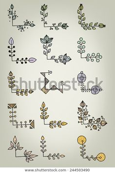 Hand Drawn Doodle Vector Book Corners Stock Vector (Royalty Free) 244503490 - Kat_Isa No - Design Bullet Journal School, Bullet Journal Mise En Page, Bullet Journal Banner, Bullet Journal Writing, Bullet Journal Aesthetic, Bullet Journal Ideas Pages, Bullet Journal Inspiration, Borders Bullet Journal, Drawing Borders