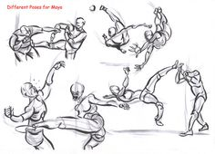 fighting poses for maya09 by AlexBaxtheDarkSide.deviantart.com