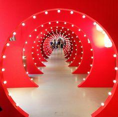 "Stunning ""Tunnel of Light"" installation in #Foscarini showroom, #breradesigndistrict #fuorisalone2015 #mdw2015 #CeramicaSantAgostinoloves #salonedelmobile #bestofmilandesignweek"