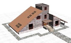 house rumba 3d model 3ds c4d dae dwg skp 3 3d Projects, Model Homes, House Plans, Construction, Exterior, House Design, Architecture, Frame, Cottage House Designs