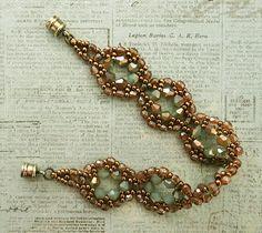 Linda's Crafty Inspirations: Bracelet of the Day: Moon Ring - Seafoam & Topaz