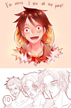 Luffy, Sabo, Ace, Law