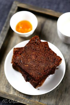 Gâteau au chocolat et à l'orange confite