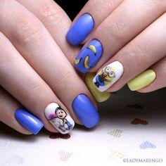 #geeknails #ladymarengo #шеллак #гельлак #нейларт #ногти #маникюр #дизайнногтей #nailart #naildesign #nails#minions#миньоны