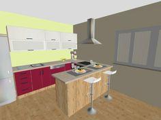 moderna kuchna s pultom #kuchyna #nabytokbetak #nabytok #kuchynasnov #kuchynanamieru #3d #vizualizacia #interierovydizajn