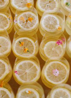 floral infused lemon drop cocktail.