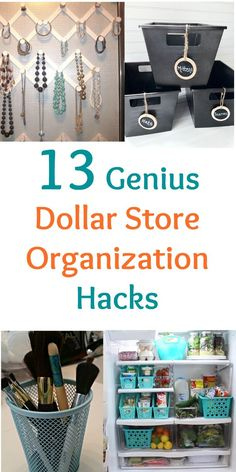 I love using these dollar store organization tips to get my get rid of the clutter in my bathroom, kitchen, closet, and kids rooms. It's great for crafts, too! You have to check out the second idea! #diy #organization #dollarstore