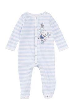 Striped Footie (Baby Boys)