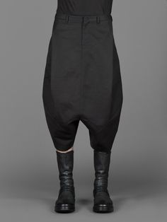 JULIUS MA_ DROP CROTCHED TAILORED TROUSERS