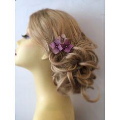 Hydrangea Hair Pins SET of THREE Flower Hair by UniqueJewelryLLC