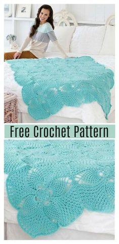 Pineapple Afghan Blanket Free Crochet Pattern