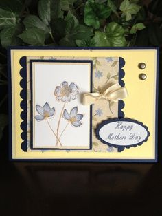botanical blooms - Stampin up site:pinterest.com | Mother's Day card made with Botanical Blooms Stampin Up stamp set