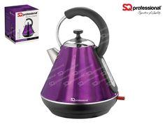 SQPro Legacy Bouilloire 1.8L - AMETHYSTE La bouilloire SQPro Legacy séduira les amateurs d'objets rétro avec son design traditionnel de couleur métallisée violette. Dotée d'un design brillant élégant d'un superbe violet améthyste, cette époustouflante bouilloire s'impose en atout de style dans votre cuisine. Elle possède une puissance de 2200 Watts pour vous offrir une ébullition rapide et une capacité de 1.8L. Cette bouilloire est facile d'entretien grâce à son filtre amovible.