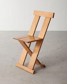 protótipo da cadeira frei egidio, design de lina bo bardi, marcelo ferraz e marcelo suzuki, 1980s