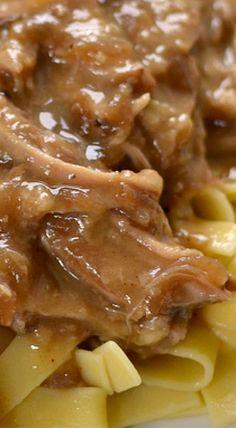 Crock Pot Pork and Noodles More paleo crockpot pork Crock Pot Slow Cooker, Crock Pot Cooking, Slow Cooker Recipes, Crockpot Recipes, Cooking Recipes, Cooking Pork, Crock Pots, Cooking Ideas, Brownie Desserts