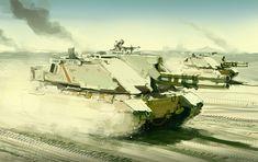 concept tanks: Concept tank art by Daniel Graffenberger