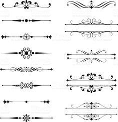 Typographic Ornaments royalty-free stock vector art