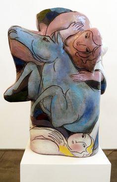 Rudy Autio  Blue Roams Vessel  ceramic  38.5 x 34 x 22 inches