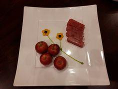 Very good dessert!! And so lovely~~♡ #dessert #apple #flower #food