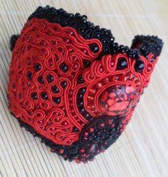 Twilight Unique handmade soutache bracelet. Statement piece by SoutacheShop