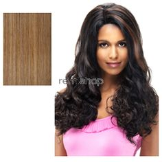 "Vivica Fox Natural ""Baby Hair"" Lace Front Rowen 18""-21"" - Color P2216 - Synthetic (Curling Iron Safe) Baby Hair Lace Front Wig"