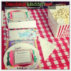 Poetry Picnic!  Fun way to celebrate at the end of a poetry unit.