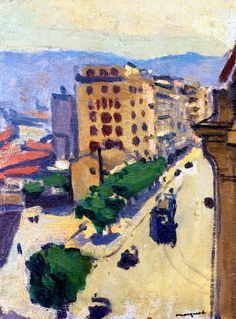 Street in Algiers /circa Albert Marquet was a French painter, associated with the Fauvist movement. He initially became one of the Fauve painters and a lifelong friend of Henri Matisse. Henri Matisse, Rio Sena, Raoul Dufy, France Art, Ecole Art, Post Impressionism, Paintings I Love, Figurative Art, Landscape Paintings