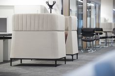 Reception and Lounge Areas: Octo Sofas, Haven Sofas and Stools,Open and Pause Tables by Allermuir
