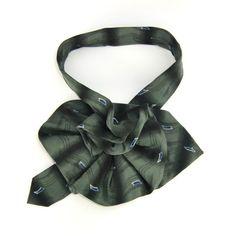 Elegant Geoffrey Beene Ladies Silk Necktie Scarflette, Upcycled Necktie Necklace Silk Collar, Womans Ascot Scarf, eco fashion accessory
