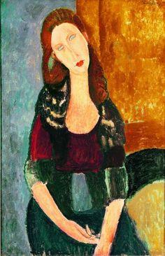 Amedeo Modigliani (1884-1920), Jeanne Hébuterne, assise, 1918,