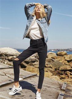 e00434ec6092 GHANDA CLOTHING 2016-17AW Casual Style Denim Street Style Plain Medium  Denim Jackets