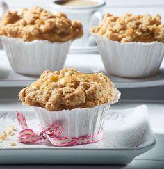 Saftige Muffins mit Haferflocken und Apfel - nicht nur für Veganer