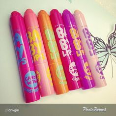 New Maybelline Baby Lips Candy Wow lip pencils!  These are NOT out in the US yet. From what I can tell, they are just now hitting S Korea, China and Taiwan.
