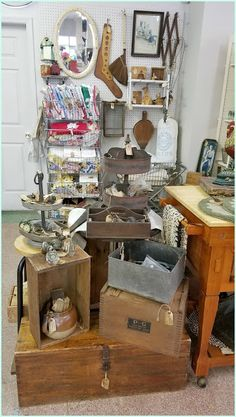 Today I'm sharing some of the updates we've made to our Panoply booth spaces in the antique mall since my last post of our booths in March . Consignment Store Displays, Host A Party, Display Ideas, Antiques, Mall, Summer, Vintage, Antiquities, Antique