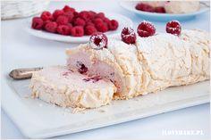 Tort bezowy z oreo - jeżozwierz - I Love Bake Pavlova, Ice Cream, Sweets, Desserts, Food, Mascarpone, Pies, Kuchen, Raspberries