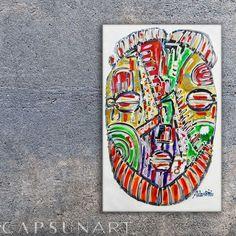 capsun-art (@capsunart) • Photos et vidéos Instagram African Paintings, Painting Gallery, African Masks, Original Paintings, The Originals, Instagram, Artwork, Photos, Inspiration