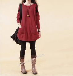 Welcome to my FashionStyleClothing    ★ Material: cotton    ★ Measurements:    FREE SIZE: Bust : 106 cm stretched to 120 cm Length : 75 cm