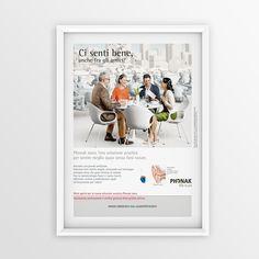 "Print advertising for Phonak ""Ci senti bene..."" 2012 #creative #design #adv www.gioart.com"